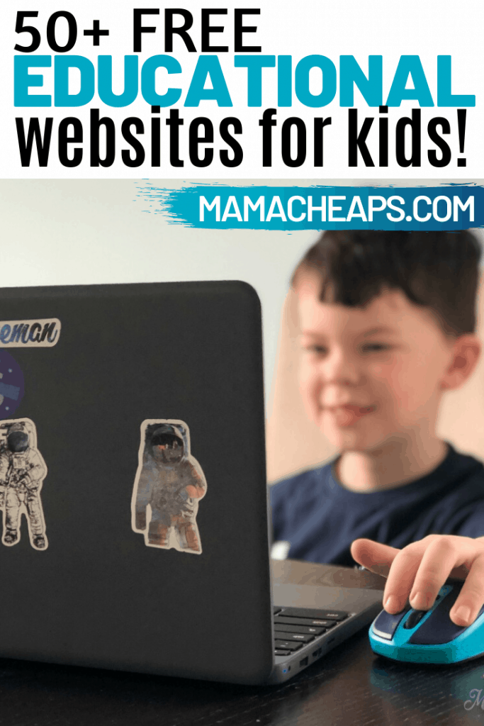 Free educational websites for kinds PIN 1