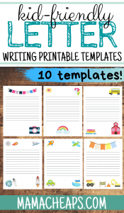 Letter Writing Templates PIN