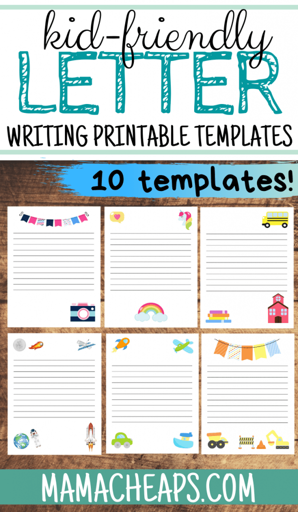 Letter Writing Templates For Kids - 10 Different Themes Mama Cheaps®
