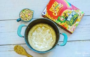 Lucky Charms Treat Bars Melted Marshmallows