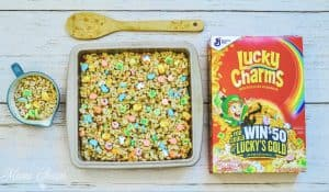 Lucky Charms Treats in pan