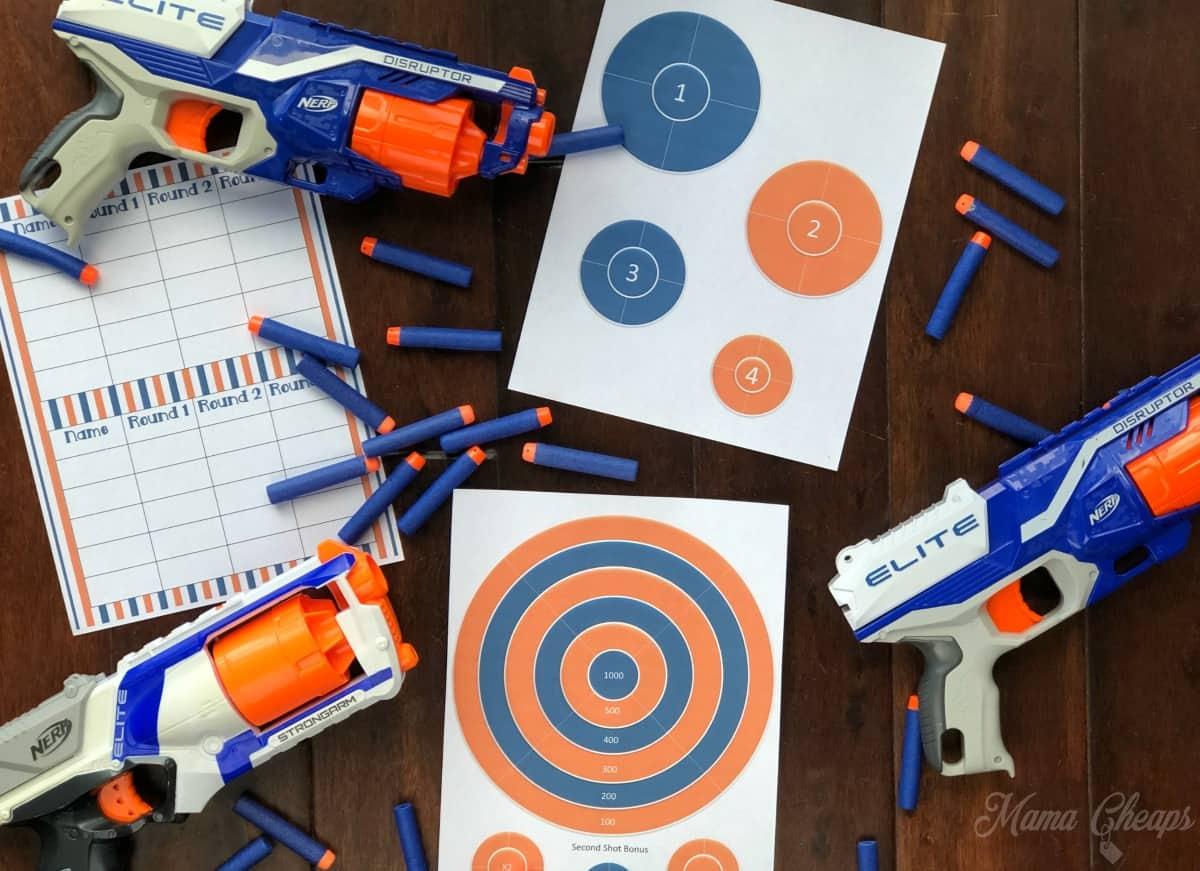 NERF Target Printable Set
