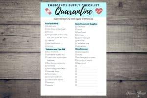 Printable Quarantine Checklist BLOG