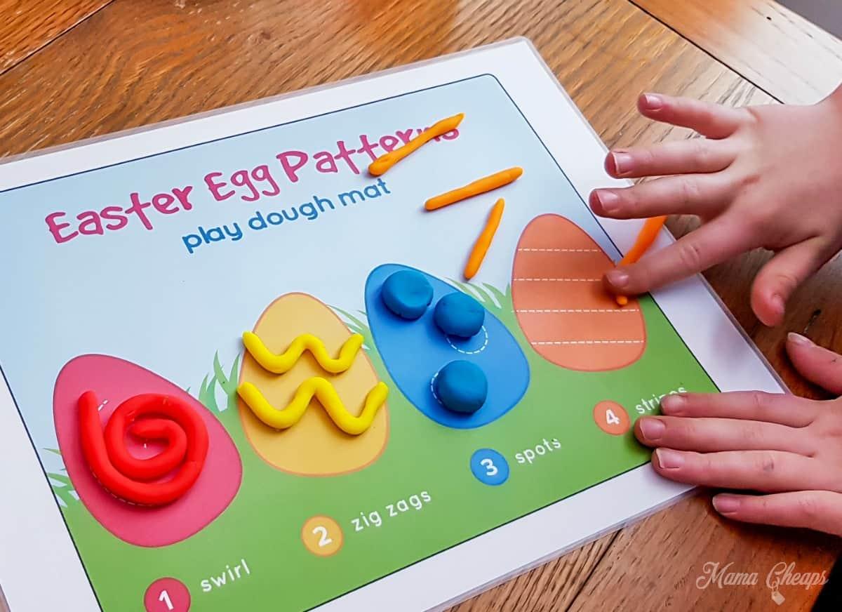 Easter Play Dough Mat 1