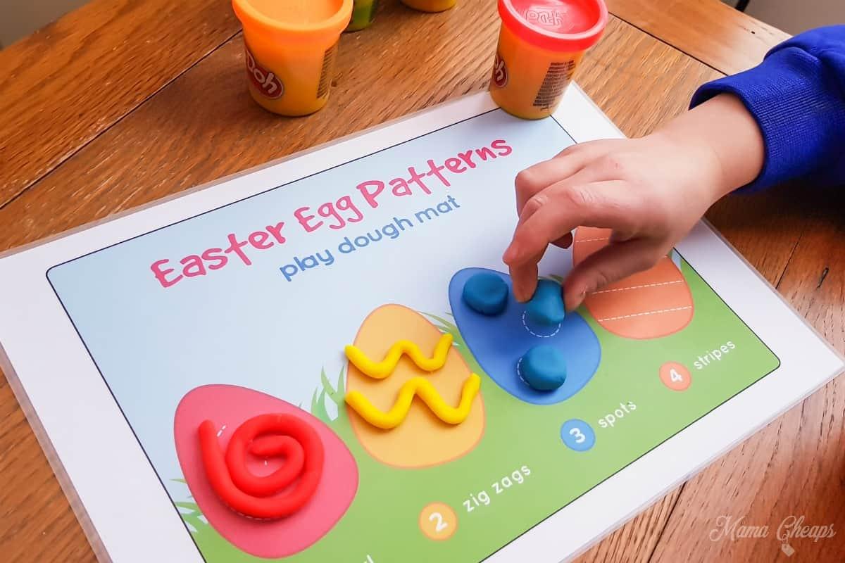 Easter Play Dough Mat 2
