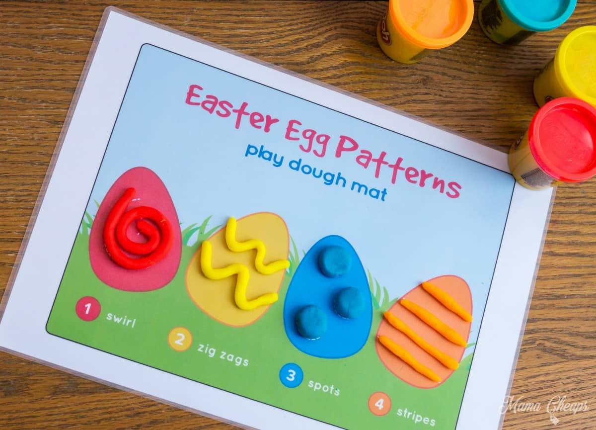 Easter Play Dough Mat 3
