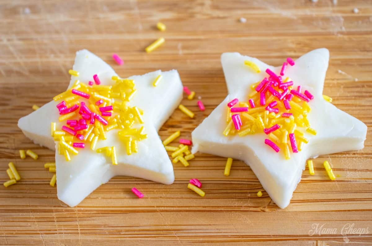Edible Playdough Frosting Stars