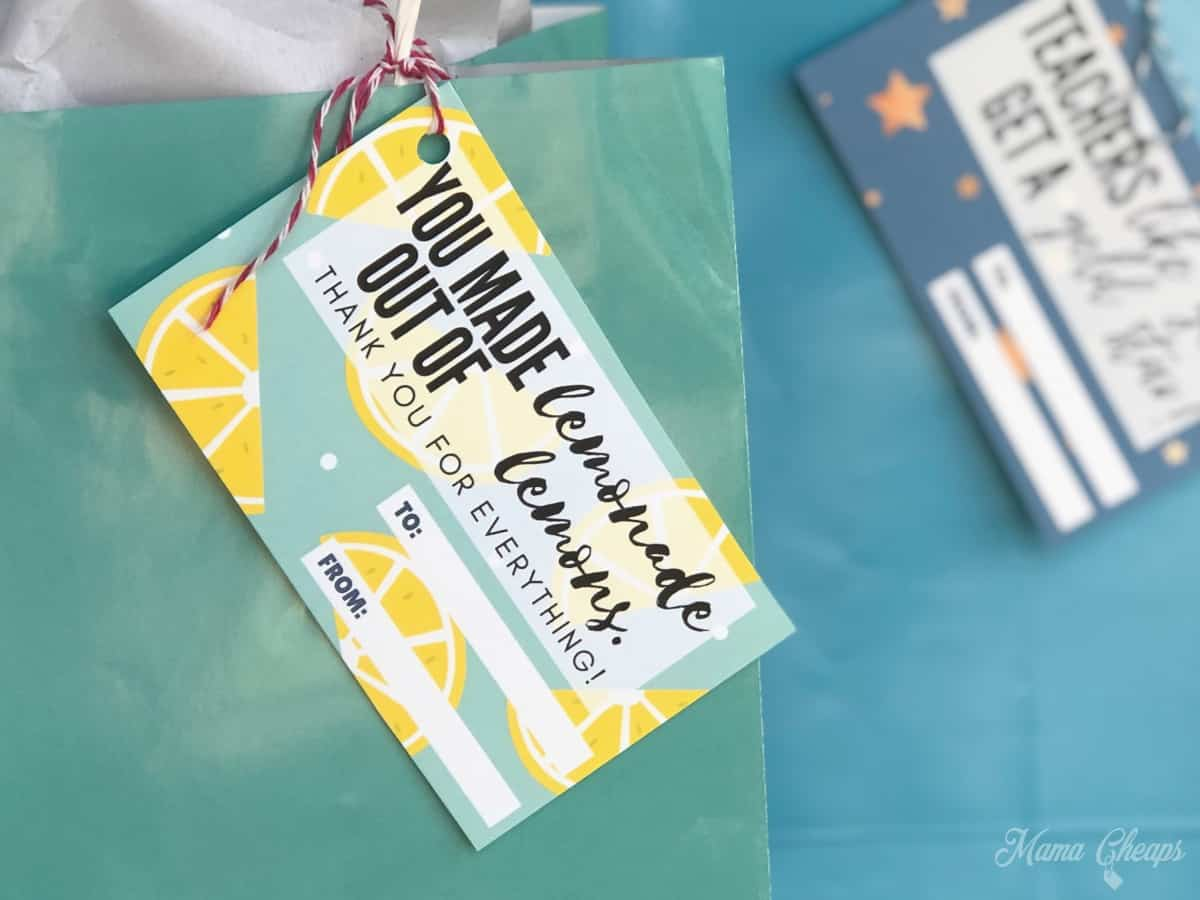 Lemons Teacher Tag