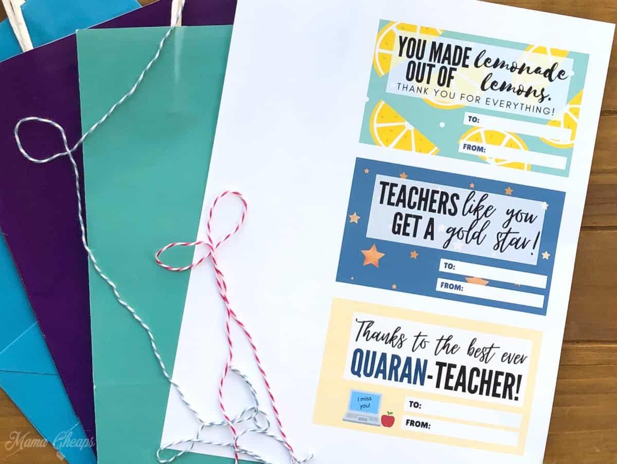 Quarantine Teacher Tag Supplies