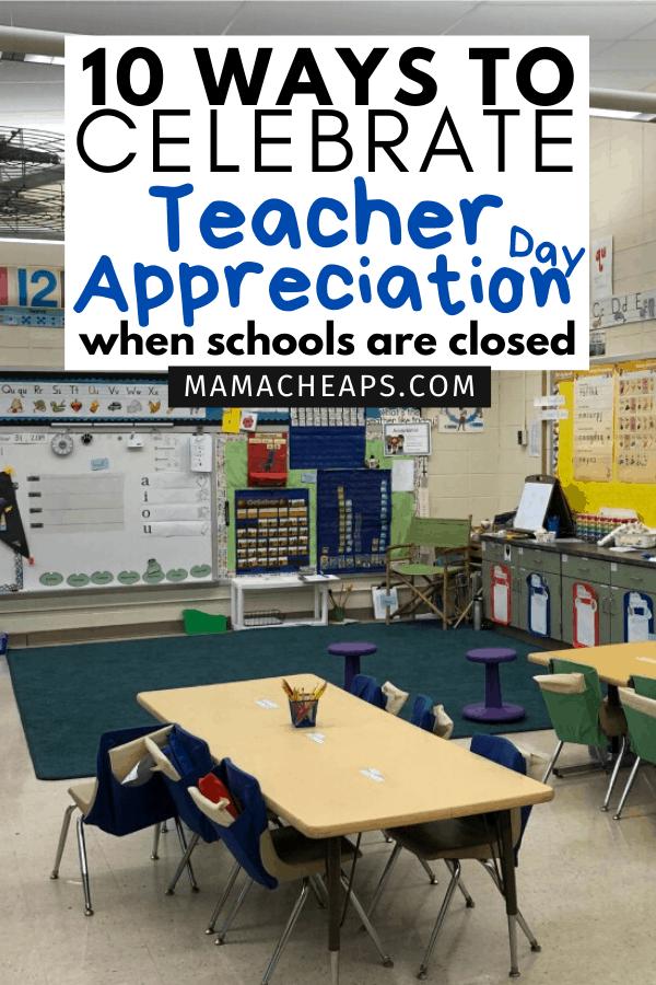 teacher appreciation schools closed pin