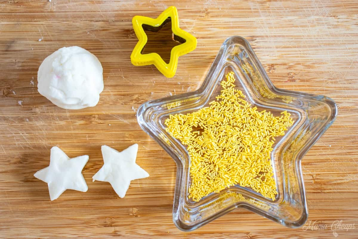 edible dough stars