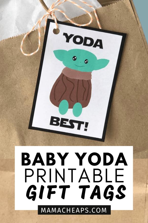 Baby Yoda tags Pin 1