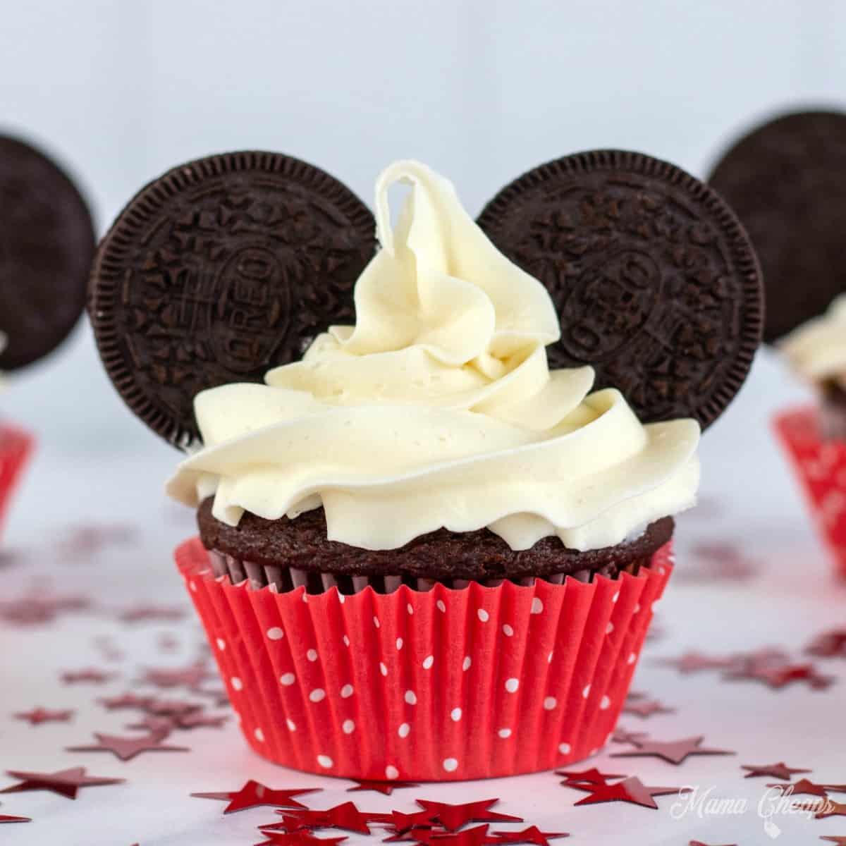 DIY Mickey Mouse Ears Cupcakes OREO SQUARE