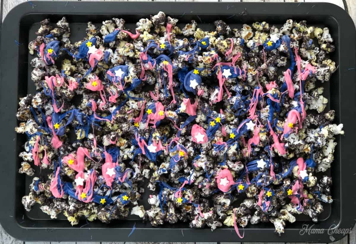 Tray of Galaxy Popcorn