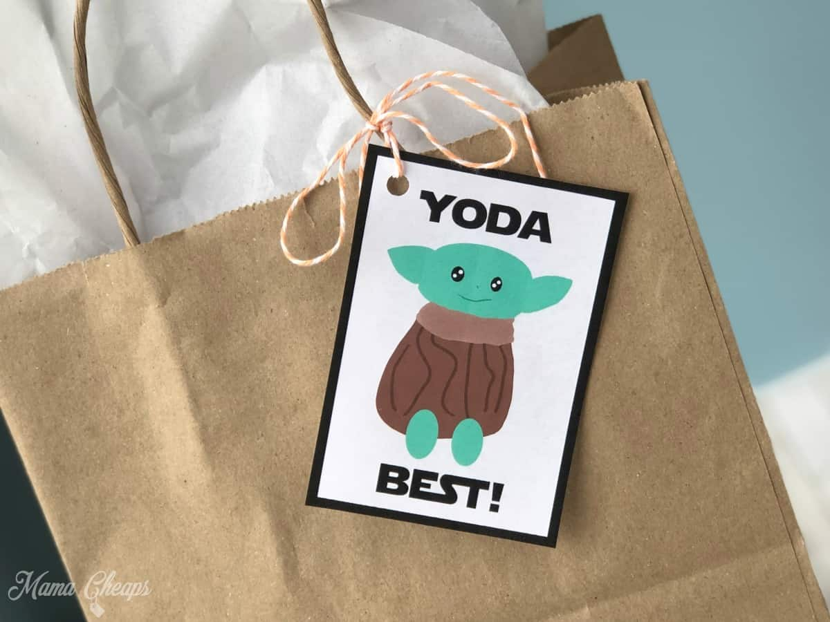 Yoda Best Gift Tag on Bag