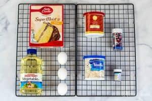 4th of July Cupcake ingredients
