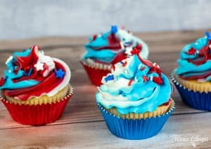4th of July Cupcakes 4