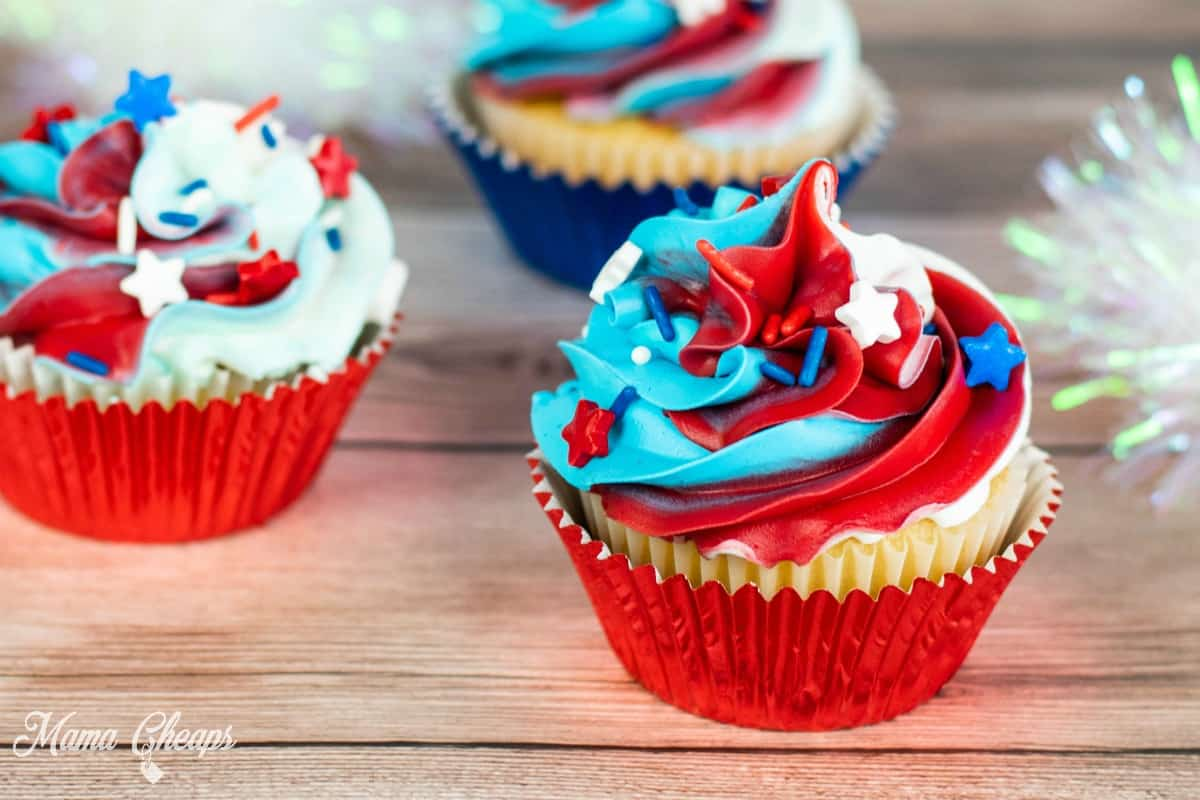 4th of July Cupcakes 5