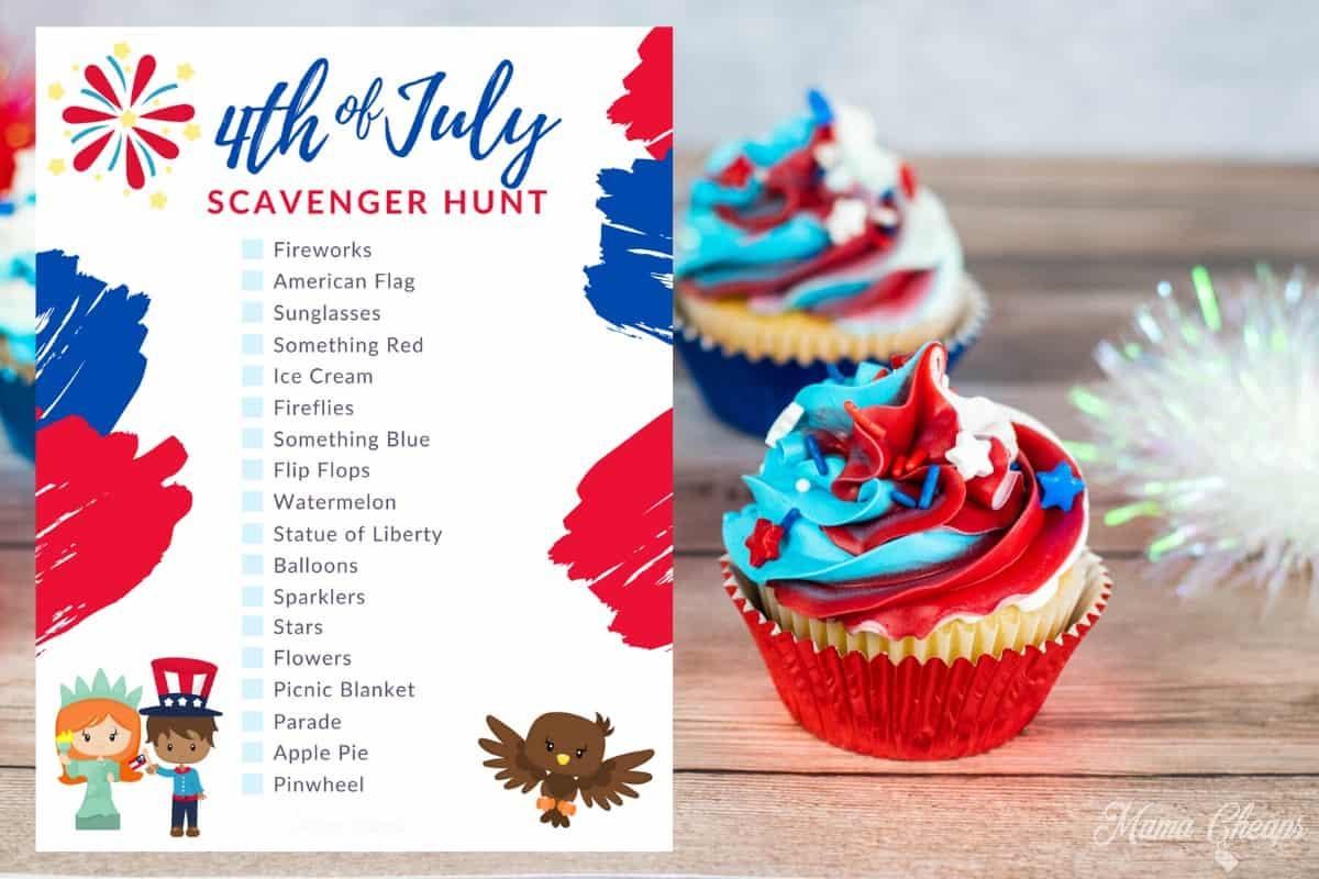 4th of July Scavenger Hunt HERO