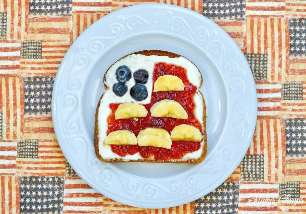 American Flag Fruit Toast