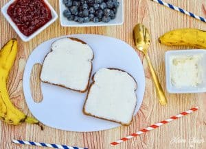 American Flag Toast Cream Cheese Layer