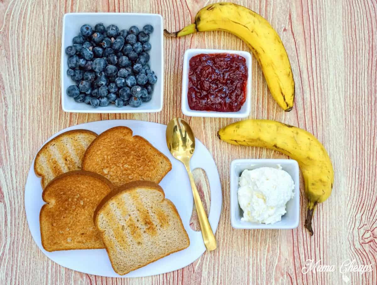 American Flag Toast Ingredients