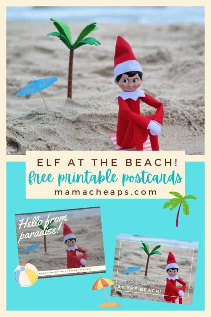 Beach elf postcards PIN