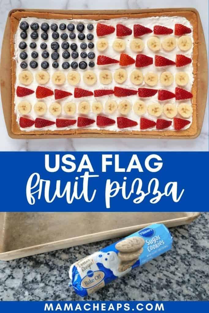 Cookie Bar USA Flag Fruit Pizza PIN