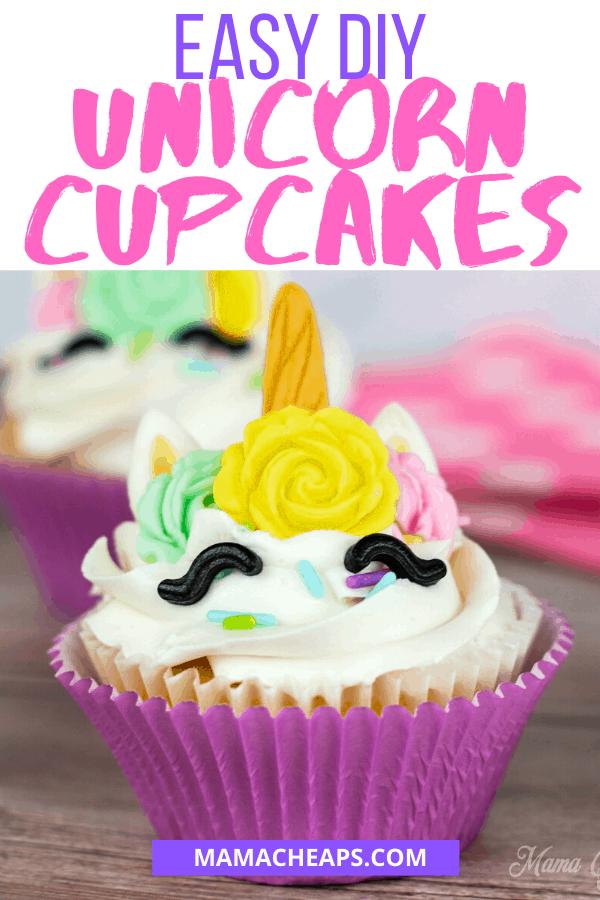 DIY Unicorn Cupcakes PIN