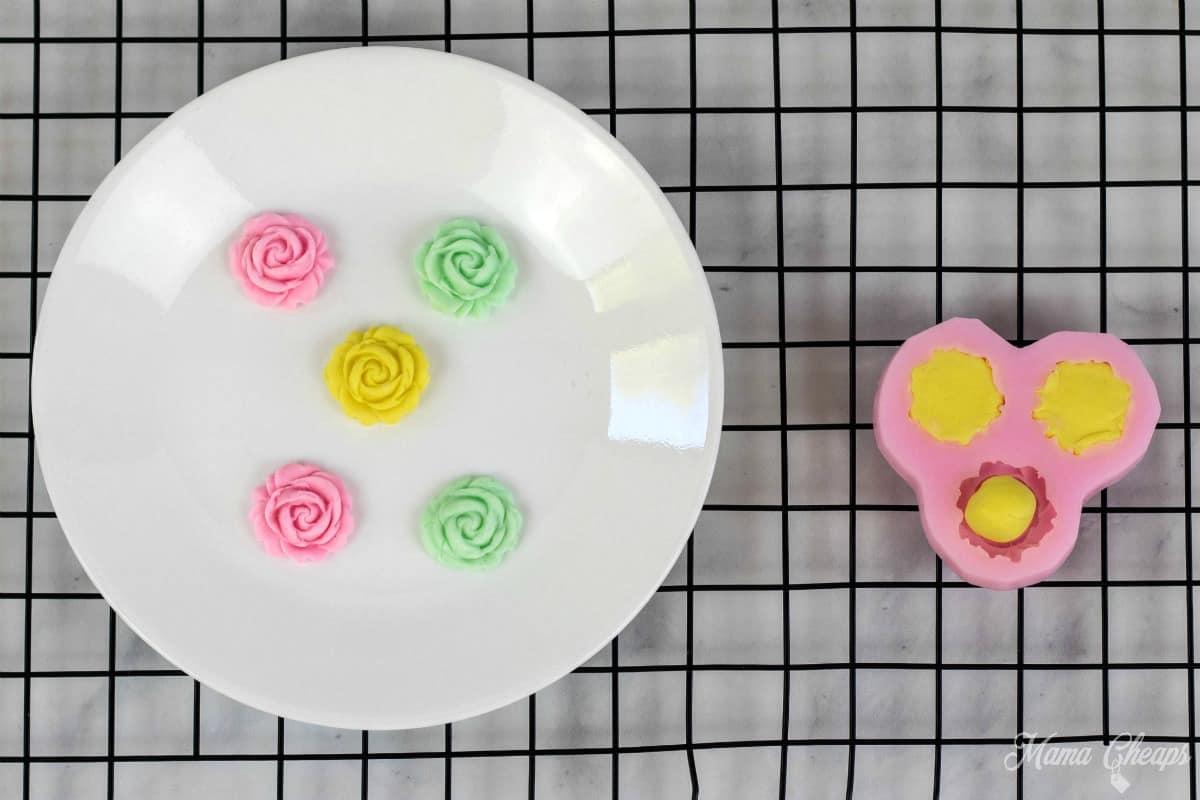 Unicorn Cupcakes Fondant Flowers