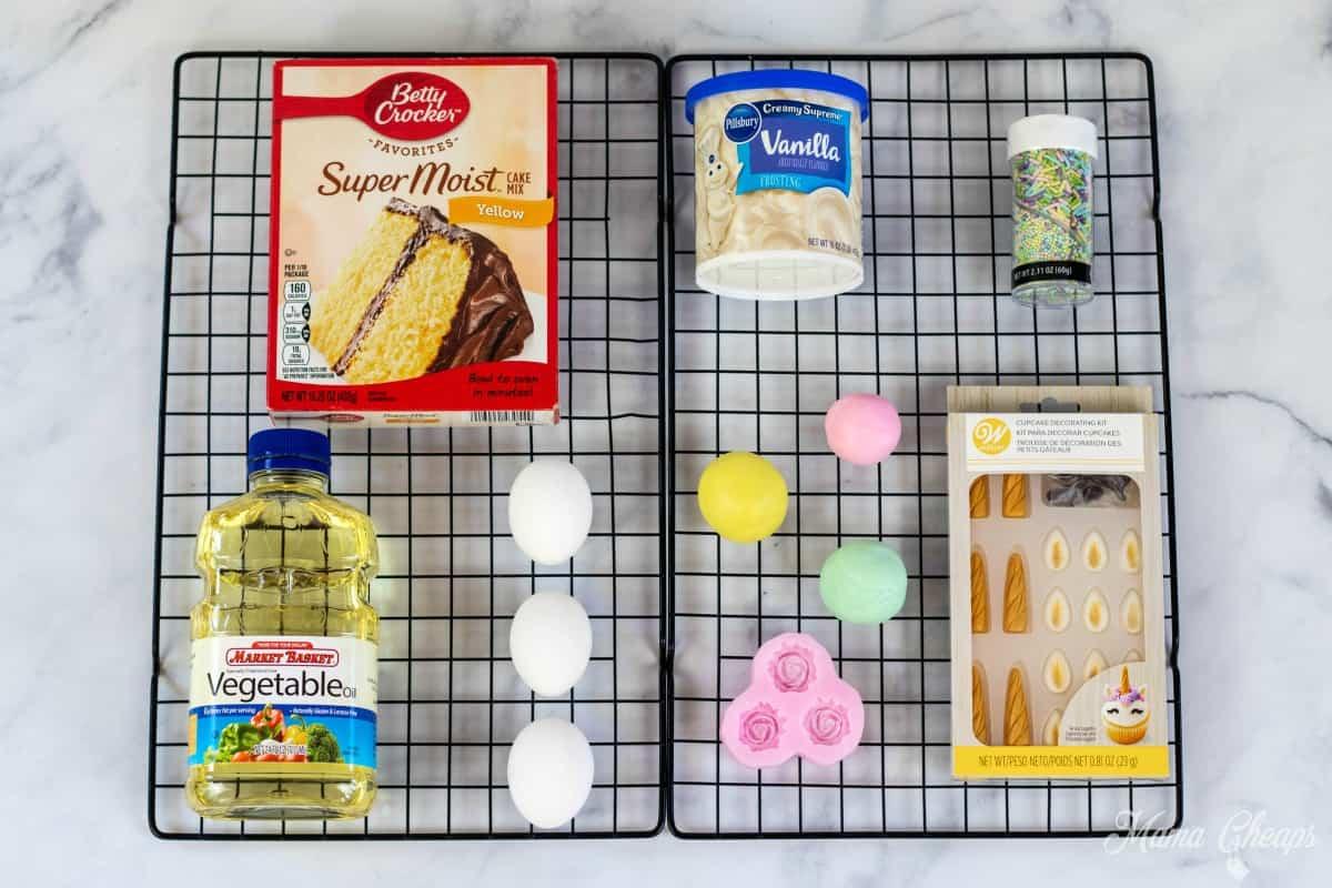 Unicorn Cupcakes Supplies