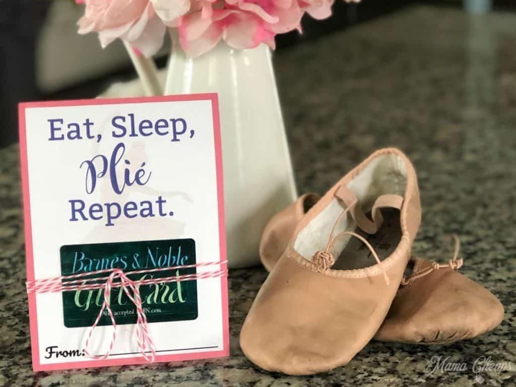 eat sleep plie repeat dance teacher gift card holder