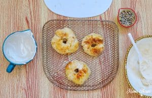 Air Fryer Bagels Cooked