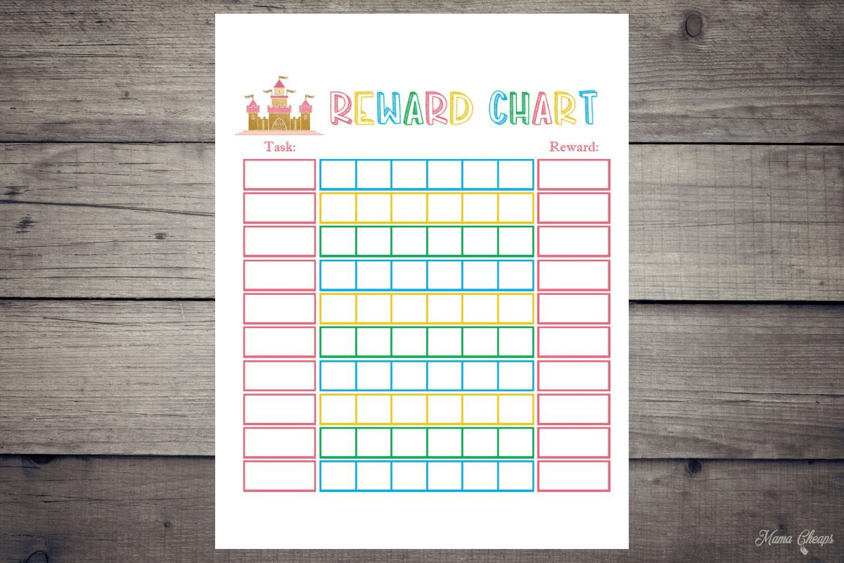 Castle Themed Reward Chart Printable For Kids Mama Cheaps