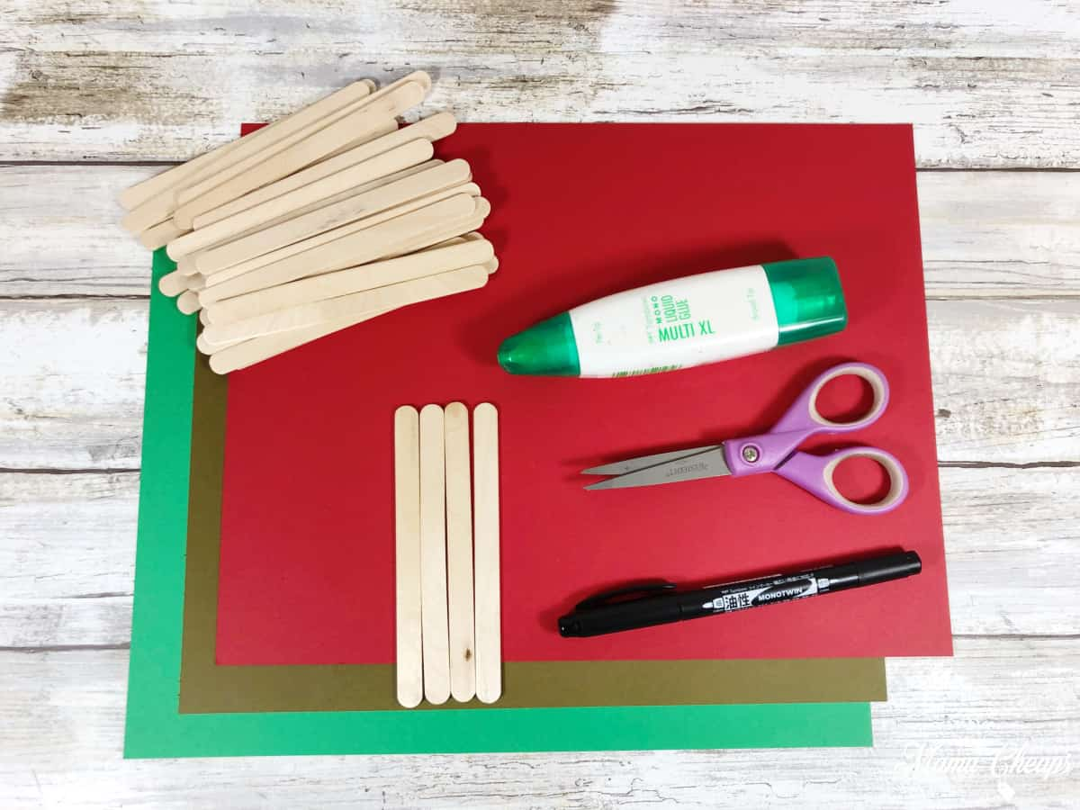 Apple popsicle stick craft supplies
