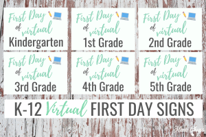 Grade Levels First Day Virtual Signs HERO