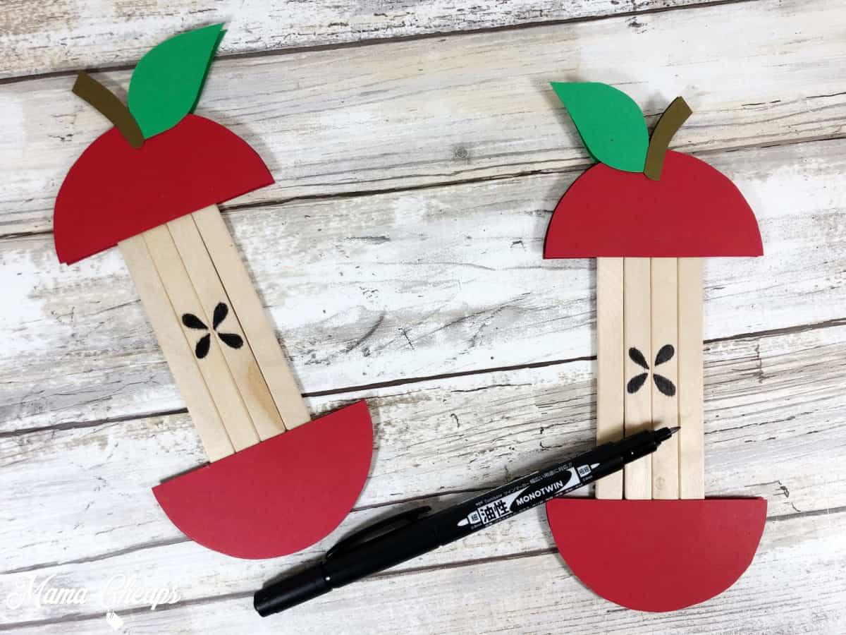 apple craft marker seeds