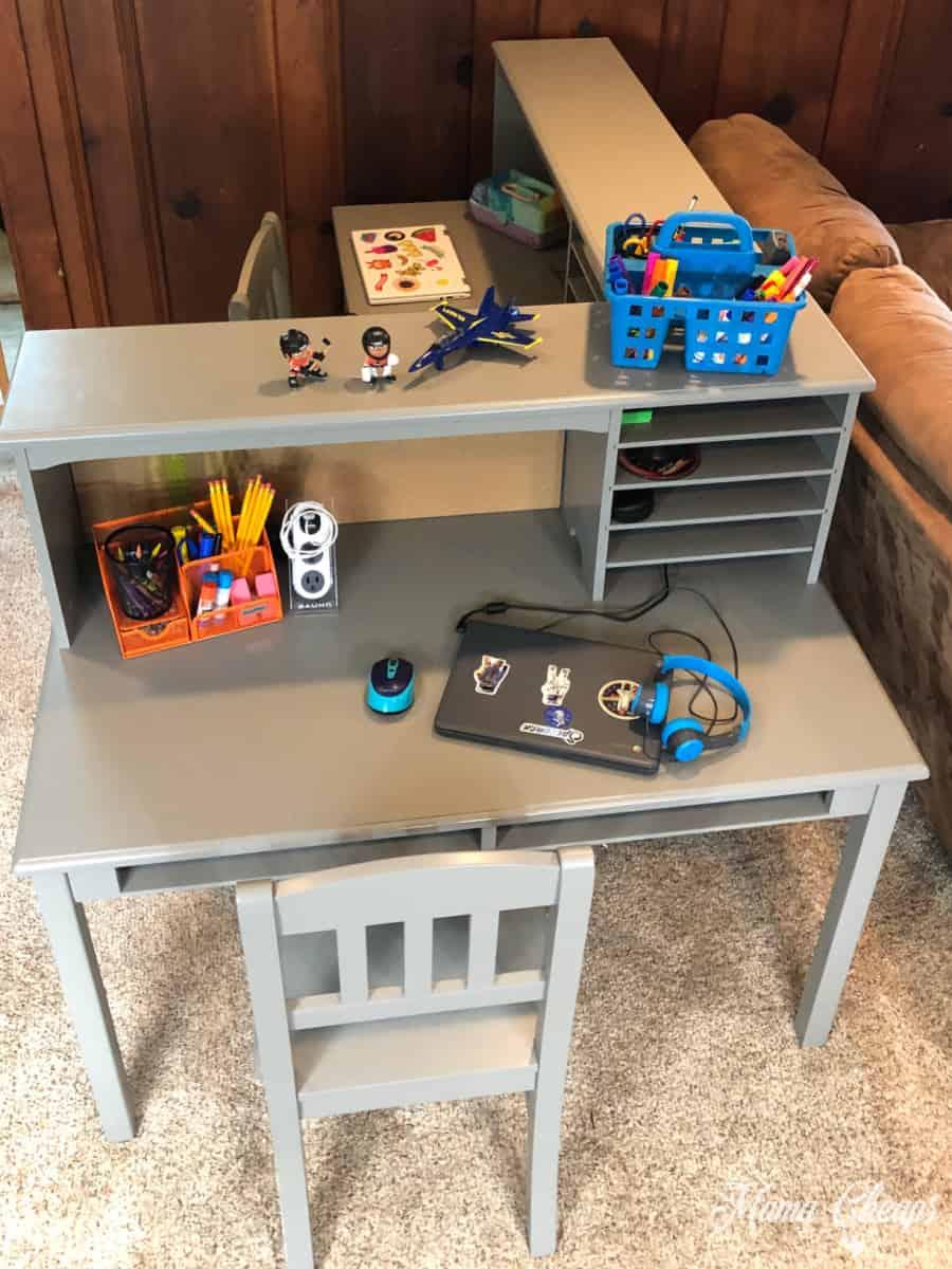 kid desk workspace