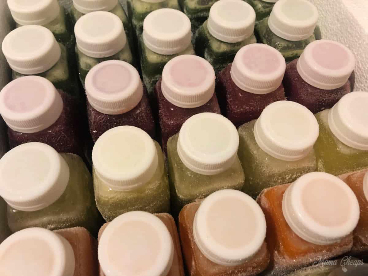 Frozen juices