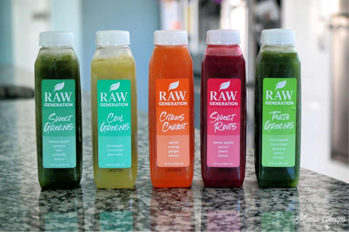 Raw Generation Juice Variety Pack