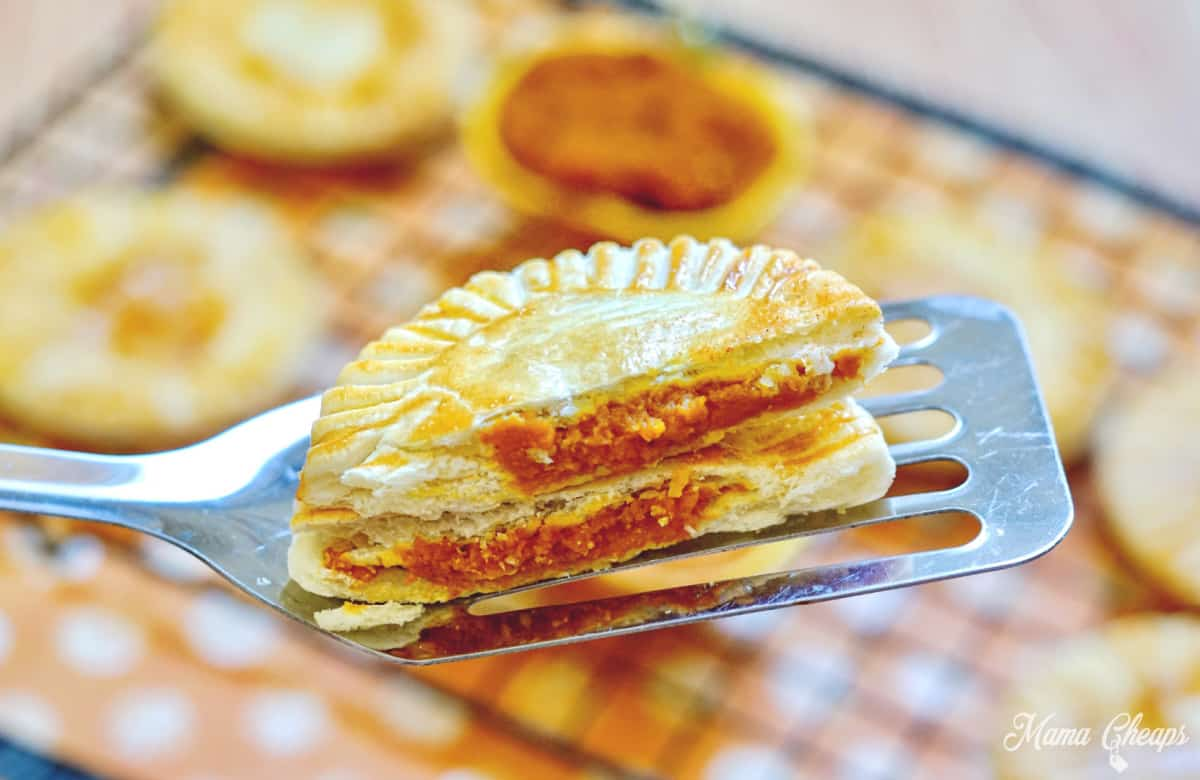 close up pumpkin hand pie