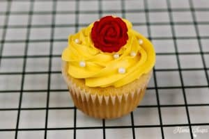 finished belle cupcakes