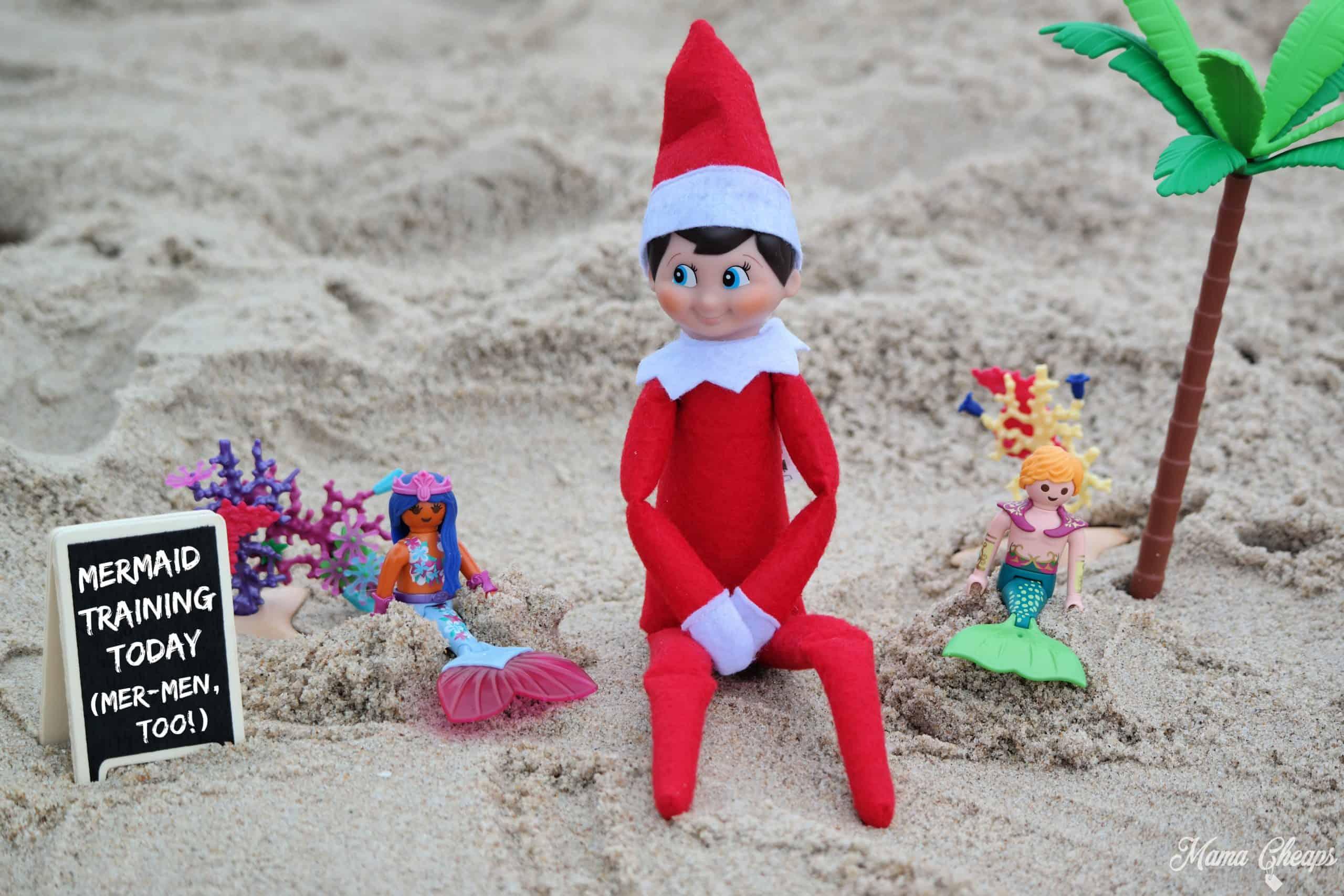 Mermaid Elf no ocean