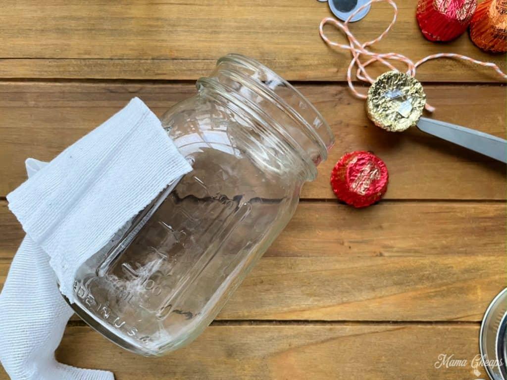 Mummy Candy Jar Gauze Start