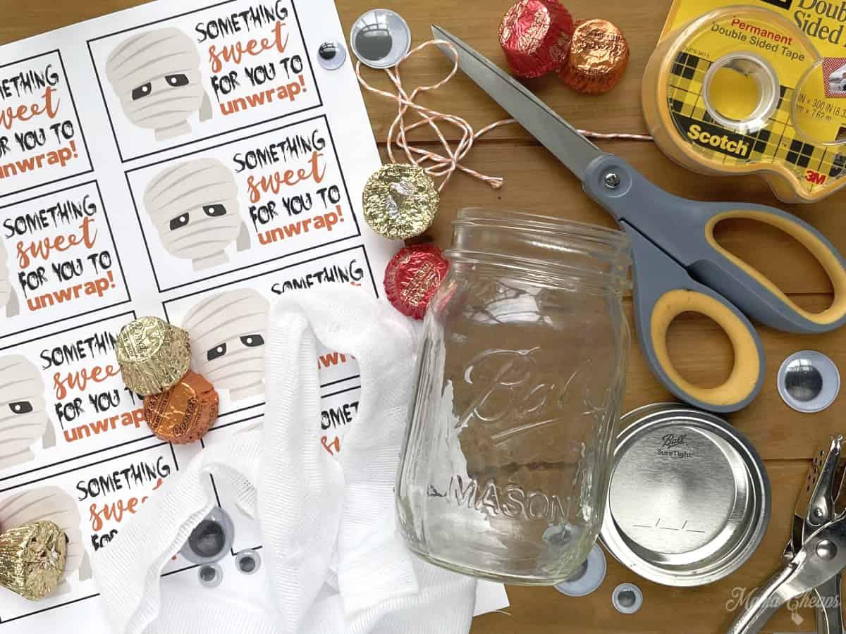 Mummy Candy Jar Materials