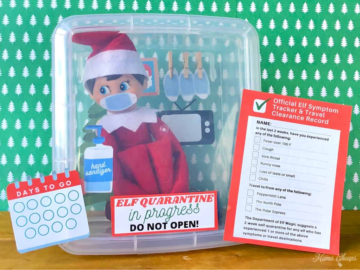 Elf On The Shelf Self Quarantine Printable Kit Mama Cheaps