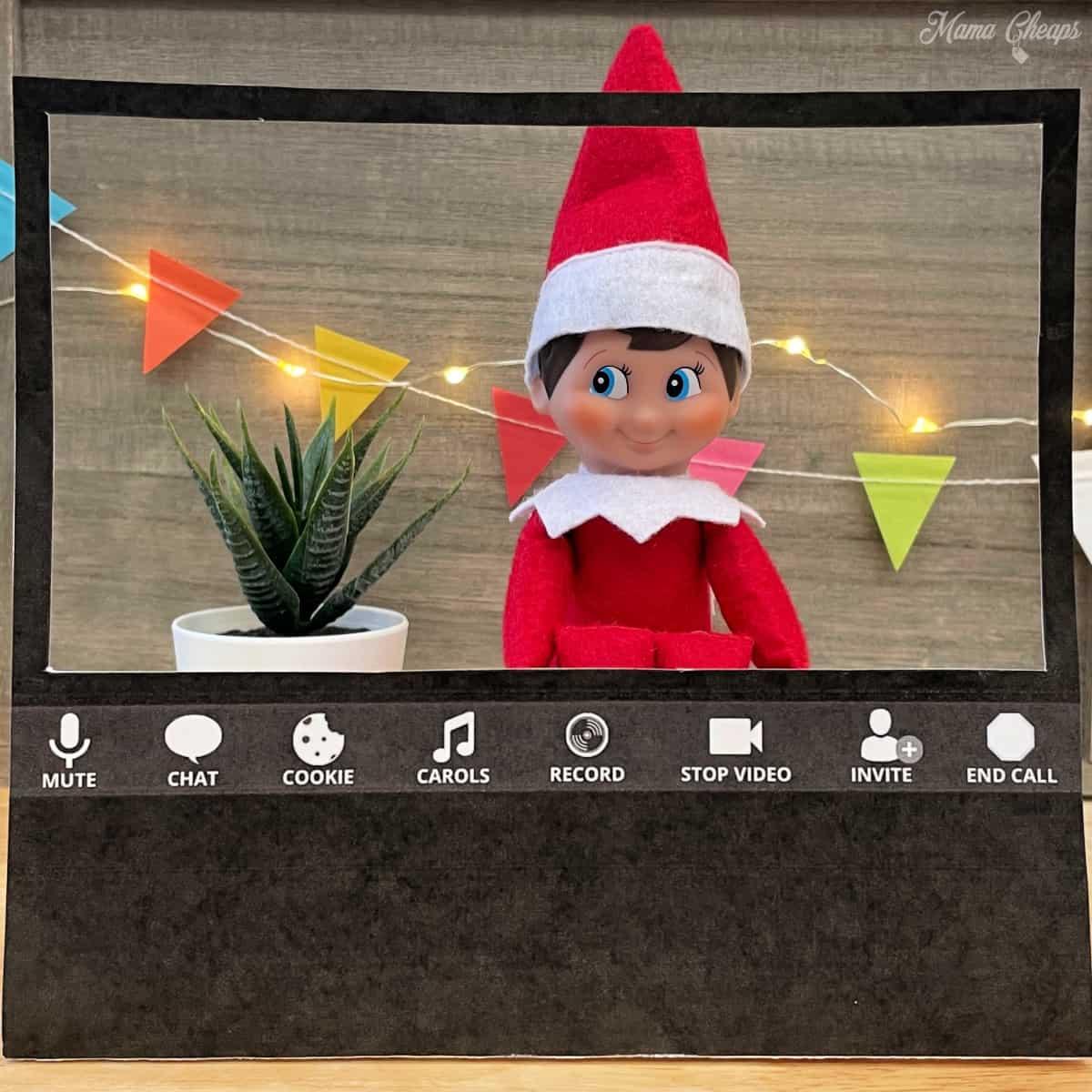 elf on shelf zoom meeting