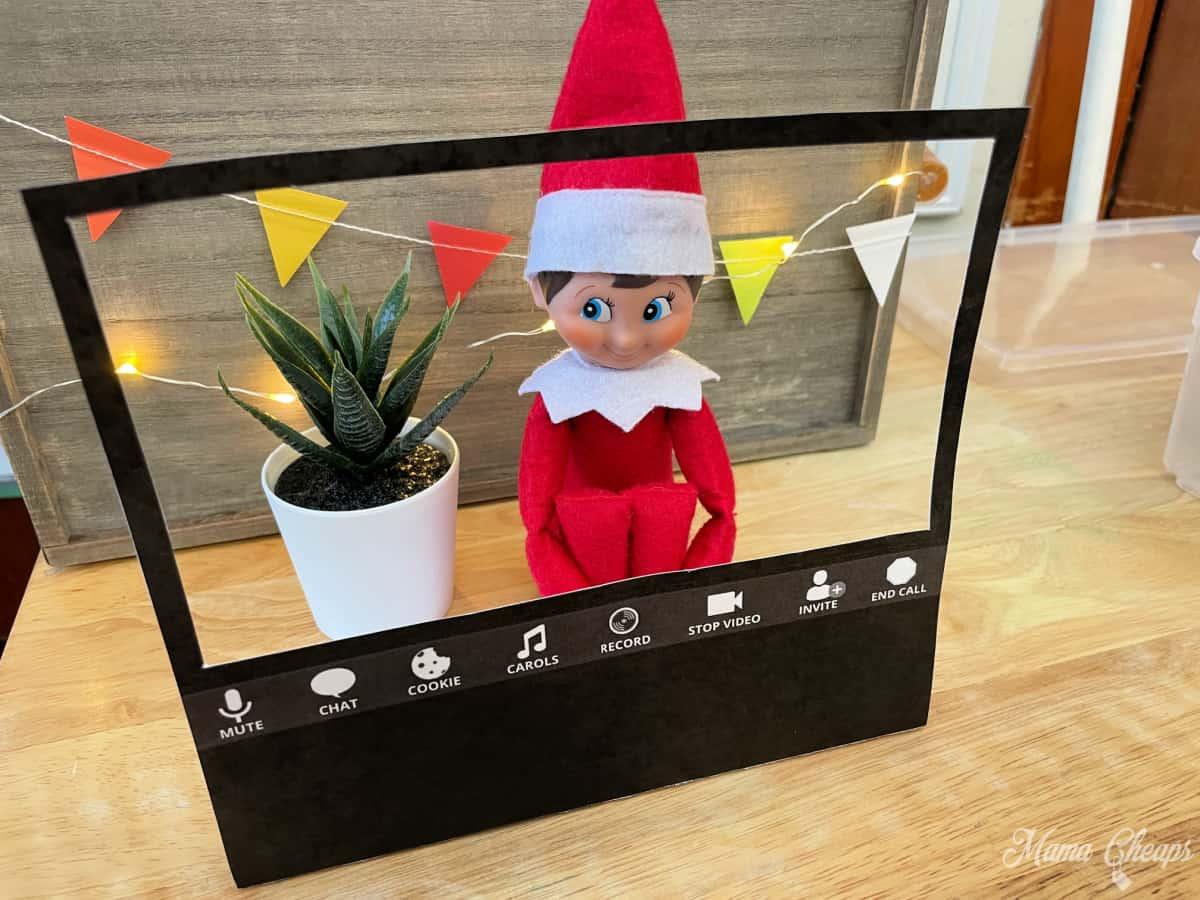 Elf on Shelf Zoom Setup