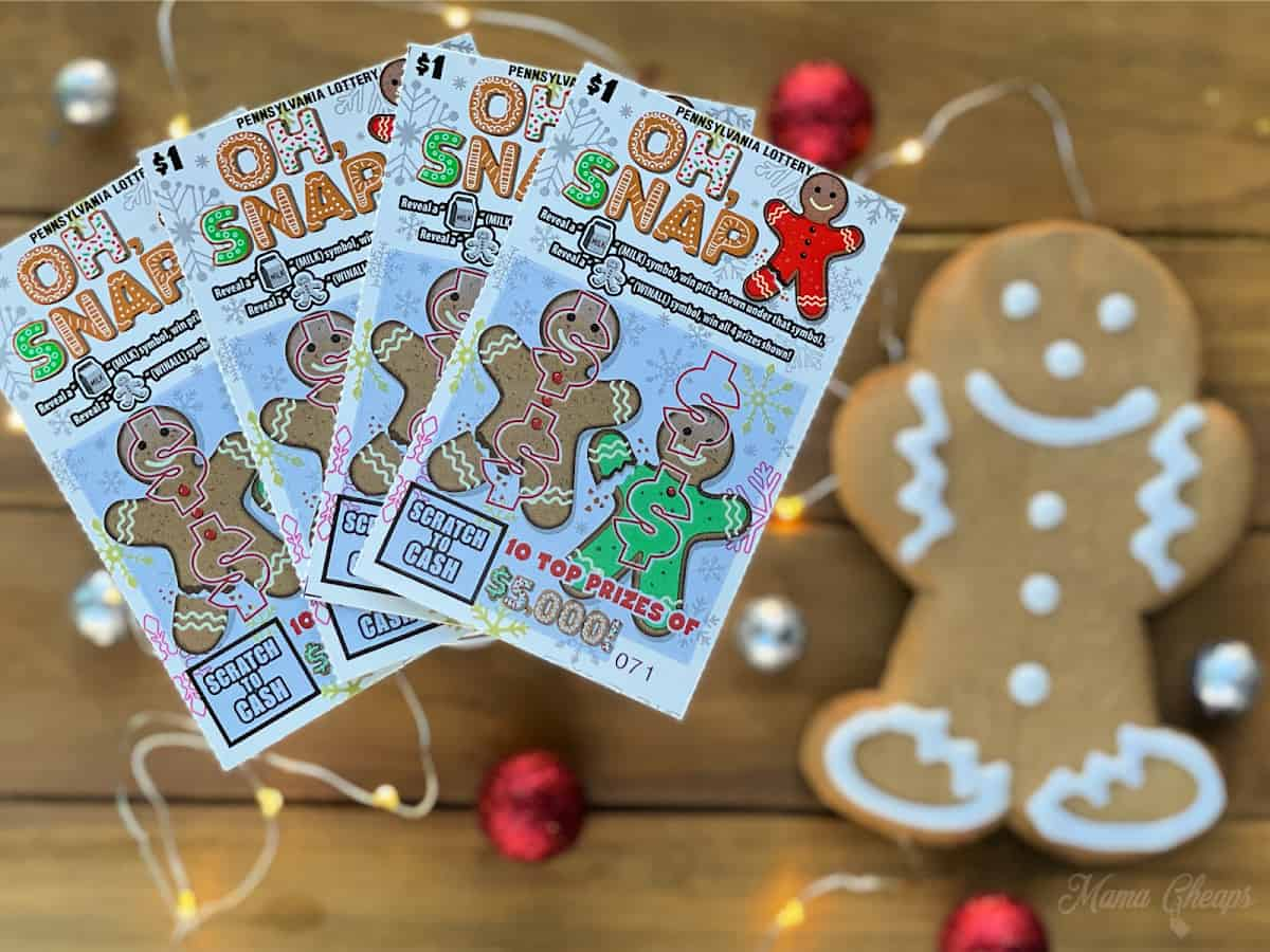 Oh Snap Tickets and Gingerbread Man