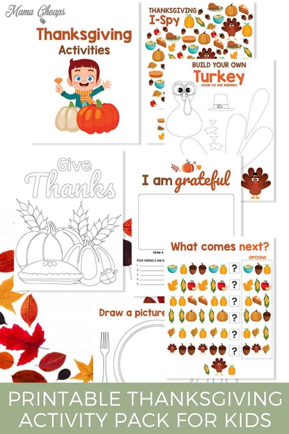 Thanksgiving Activity Pack for Kids PIN